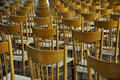 Empty chairs row of in church Royalty Free Stock Image