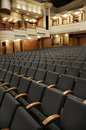 Empty chairs at theater hall Royalty Free Stock Photos