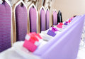 Empty chairs and wedding table decorations Royalty Free Stock Images