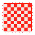 Empty chessboard isolated. Board for chess or checkers game. Strategy game concept. Checkerboard background. Royalty Free Stock Photo