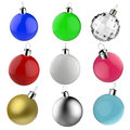 Empty christmas balls ornament set of Royalty Free Stock Photos