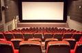 Empty cinema auditorium Royalty Free Stock Images