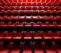 Empty cinema hall with auditorium Royalty Free Stock Photo