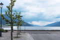 Empty city pier on a summer overcast day norway Royalty Free Stock Photography