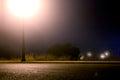 Empty city street at night Royalty Free Stock Photo