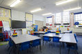 Empty classroom a horizontal image of an primary school the setting is typically british Royalty Free Stock Photo