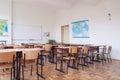 Empty classroom interior Royalty Free Stock Photo