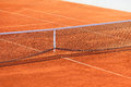 Empty Clay Tennis Court and Net Royalty Free Stock Photo