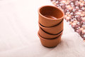 Empty clean bowls in stack Royalty Free Stock Photo