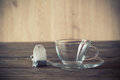 Empty clear glass of tea Royalty Free Stock Photo