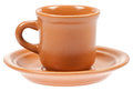 Empty coffee cup with plate Royalty Free Stock Image