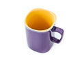 Empty coffee cup purple Royalty Free Stock Image