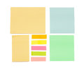 Empty color sticky notes Royalty Free Stock Photo