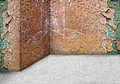 Empty corner wall  aged old dirty grungy vintage  background. In Royalty Free Stock Photo