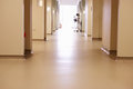 Empty Corridor With Medical Equipment In Modern Hospital Royalty Free Stock Photo