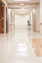 Empty Corridor In Modern Hospital Royalty Free Stock Photo