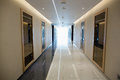 Empty corridor in the modern office building Royalty Free Stock Photo