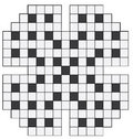 An empty crossword puzzle Royalty Free Stock Photo