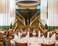 Empty Cruise Ship Dining Room Royalty Free Stock Photo