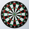 Empty dartboard the on white background Royalty Free Stock Photography