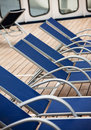Empty deck chairs Royalty Free Stock Images