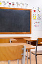 Empty, decorated elementary classroom Royalty Free Stock Photos