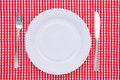 Empty dinner plate Stock Photos