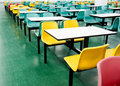 Empty dinning tables Royalty Free Stock Photos