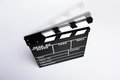 Empty directors board or clapboard with moving clapper