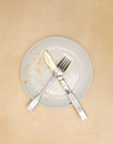 An empty dirty plate Stock Photography