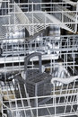 Empty Dishwasher Interior Royalty Free Stock Image