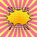 Empty dynamic comic speech bubble with dots and strip. Vector co