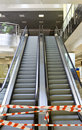 Empty escalator conducting upward Royalty Free Stock Photography