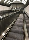 Empty escalator, moving s stairs Royalty Free Stock Photo