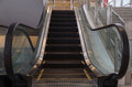 Empty escalator. Royalty Free Stock Photo