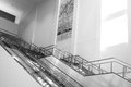 Empty Escalator and Stairs 4 Royalty Free Stock Photo