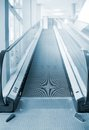 Empty escalator. Royalty Free Stock Photo