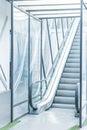 empty escalator way Royalty Free Stock Photo
