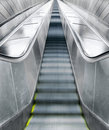 Empty escalators Stock Photo