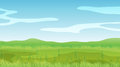 An empty field under a clear blue sky illustration of Royalty Free Stock Photo