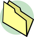 Empty file folder vector illustration Royalty Free Stock Photo