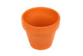 Empty flower pot isolated white Stock Photos