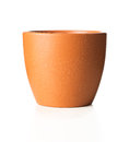 Empty flower pot white background Royalty Free Stock Photo