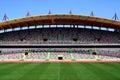 Empty football stadium Stock Photo