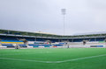 Empty football stadium for the local team in aalesund norvay colorline Stock Photos