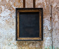 Empty frame from an icon in prison cell. Royalty Free Stock Photo