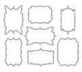 Empty frame vector symbol icon design. Beautiful illustration is Royalty Free Stock Photo
