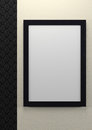 Empty frame on wall Stock Image