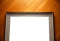Empty frame on wood Royalty Free Stock Image