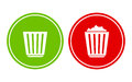 Empty and full recycle bin Royalty Free Stock Photo